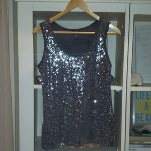 Silver Sequin Tank sz. Large